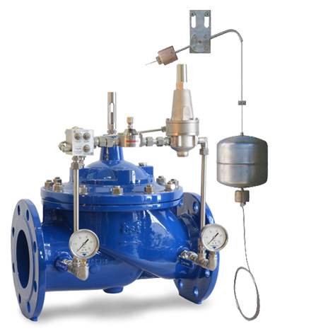 photo of the pressure relief/sustaining valve and level control XLC 424